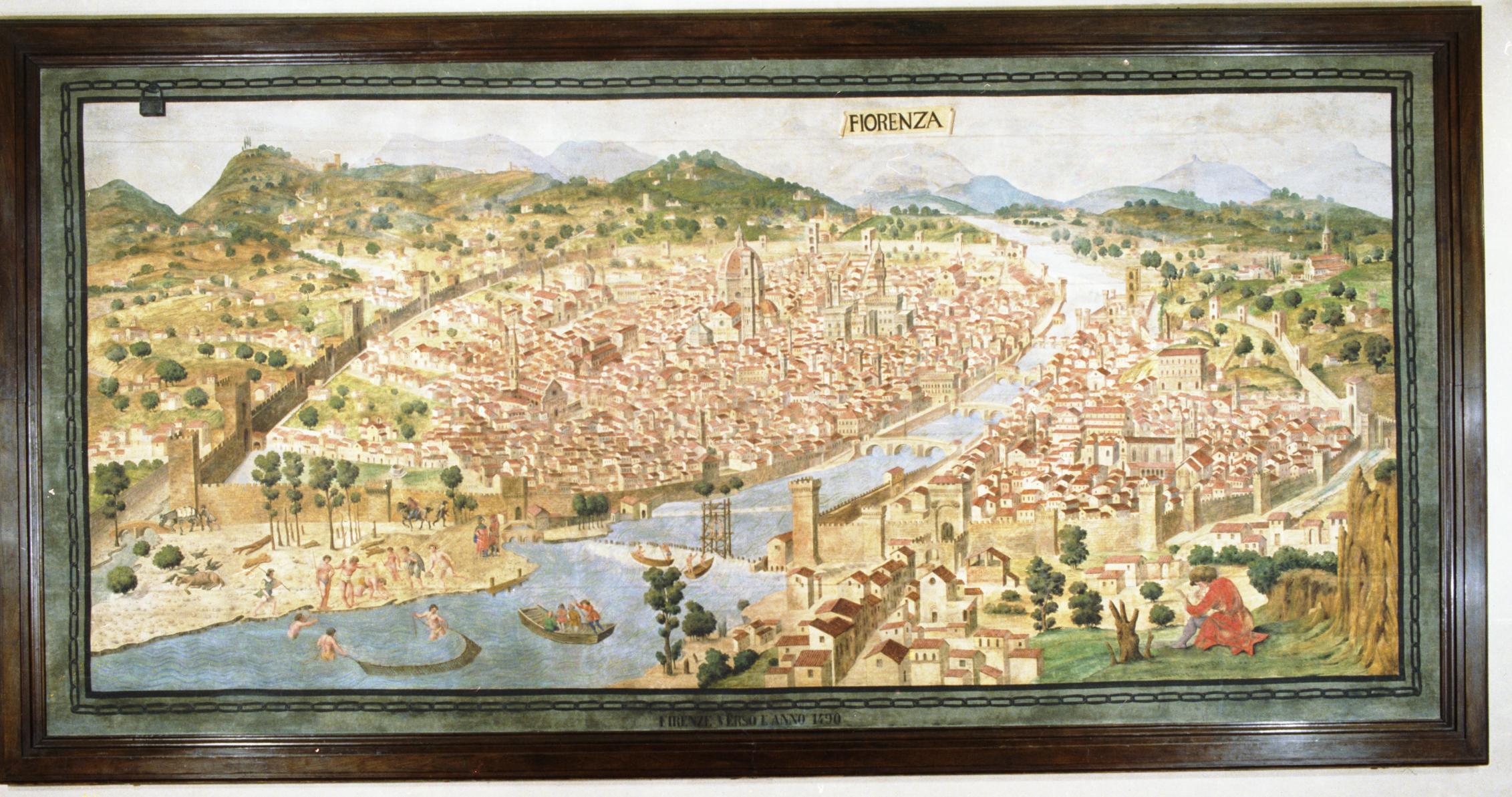 """""""Pianta della Catena"""" (1471) attributed to Francesco di Lorenzo Rosselli"""