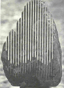 "One of Pinuccio Sciola's ""stones"""