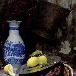Nancy Fletcher, Bulgarian rug. Oil on canvas, 80x75 cm