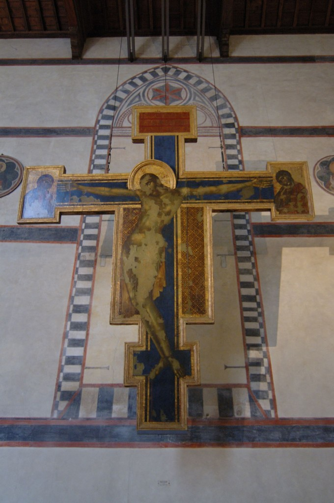Santa Croce in Florence, Cimabue crucifixion