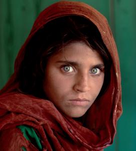 Sharbat Gula, Afghan girl from Nasir Bagh near Peshawar, Pakistan, 1984