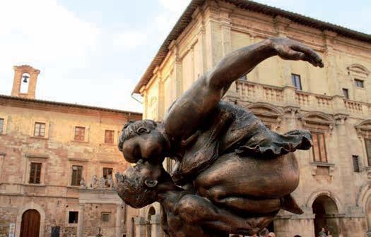 Xu Hongfei's sculpture exhibition in Montepulciano (Siena)