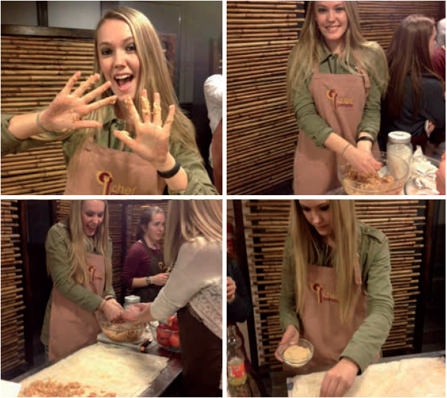 Carly Nelson in italian kitchen