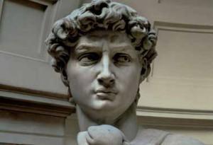 Michelangelo Buonarroti, David (1501-1504), marmo bianco, Galleria dell'Accademia, Firenze