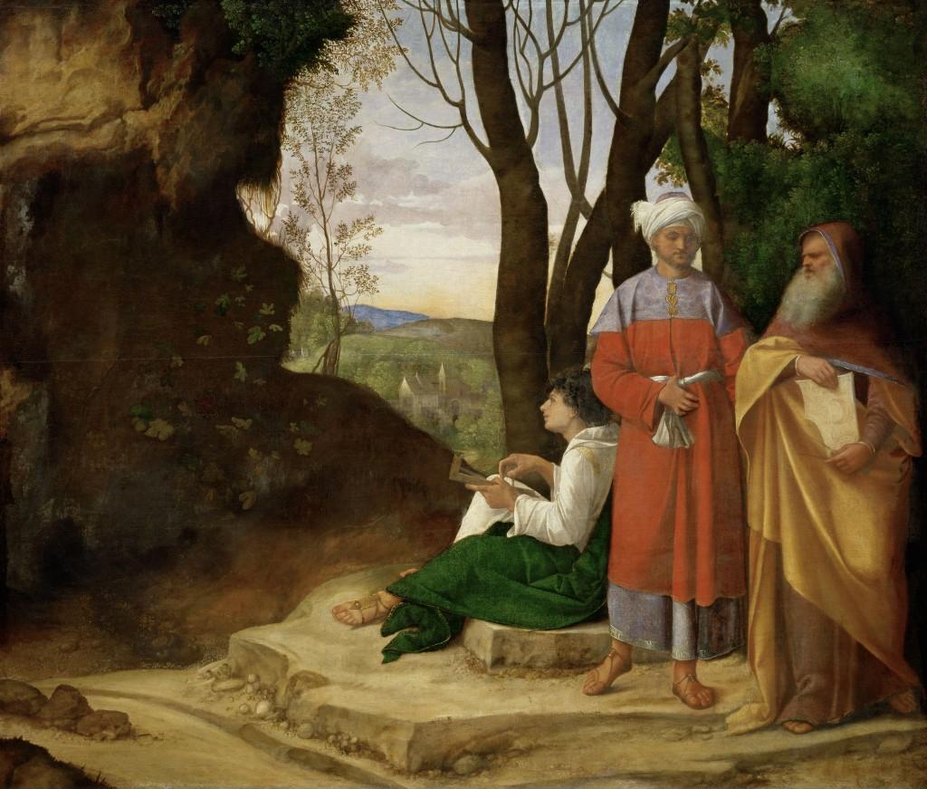 Giorgione, I tre Filosofi (1506-1508) Kunsthistorisches Museum, Vienna