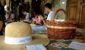 LWA! basket weaving workshop with students of CEA Program Florence Study Center
