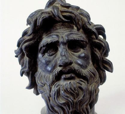 Donatello, testa in bronzo della Cantoria del Duomo  (prima del restauro), courtesy Opificio delle Pietre Dure