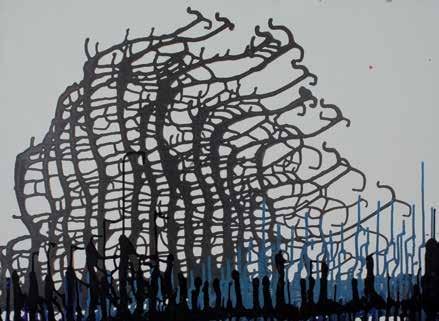 Black Forest, acrylic on canvas, cm. 80x100, 2011