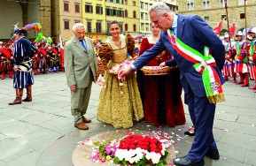 Eugenio Giani, former President of the city Council of Florence during the ceremony
