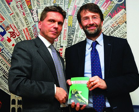 Maarten van Alderen with Dario Franceschini, Minister of Culture and Tourism