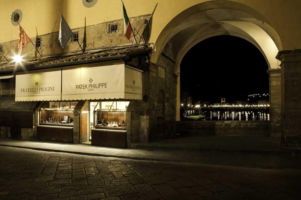 The Fratelli Piccini jewelry shop on Ponte Vecchio