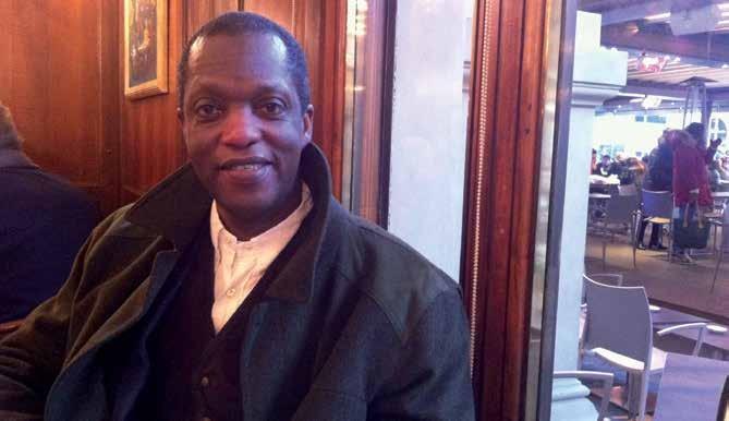 Wayne James at Gilli Cafè in Florence