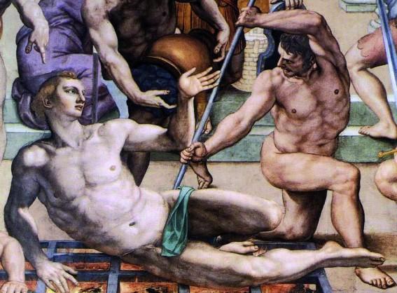 Agnolo Bronzino, Il martirio di San Lorenzo Agnolo Bronzino. Martyrdom of St. Lawrence. Detail.