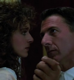 Valeria Golino with Dustin Hoffman in Rainman