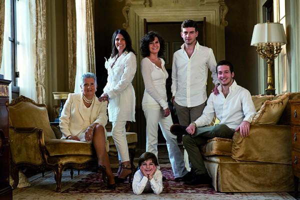 Elisa Tozzi Piccini con la sua famiglia