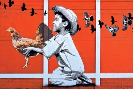 Murale nelle strade di Oaxaca, del collettivo Lapiztola, courtesy photo