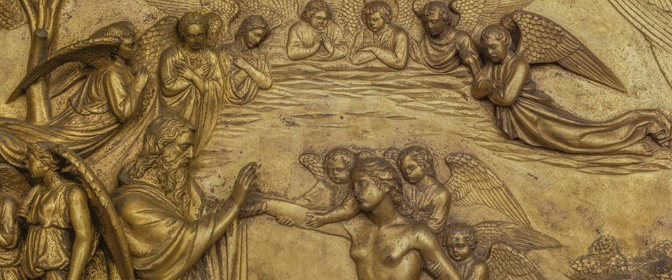 Porta del Paradiso_Creazione di Adamo e Eva