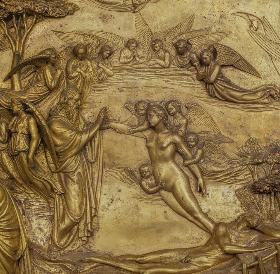 """""""Porta del Paradiso"""", Creazione di Adamo e Eva  Photo courtesy Opera di Santa Maria del Fiore"""