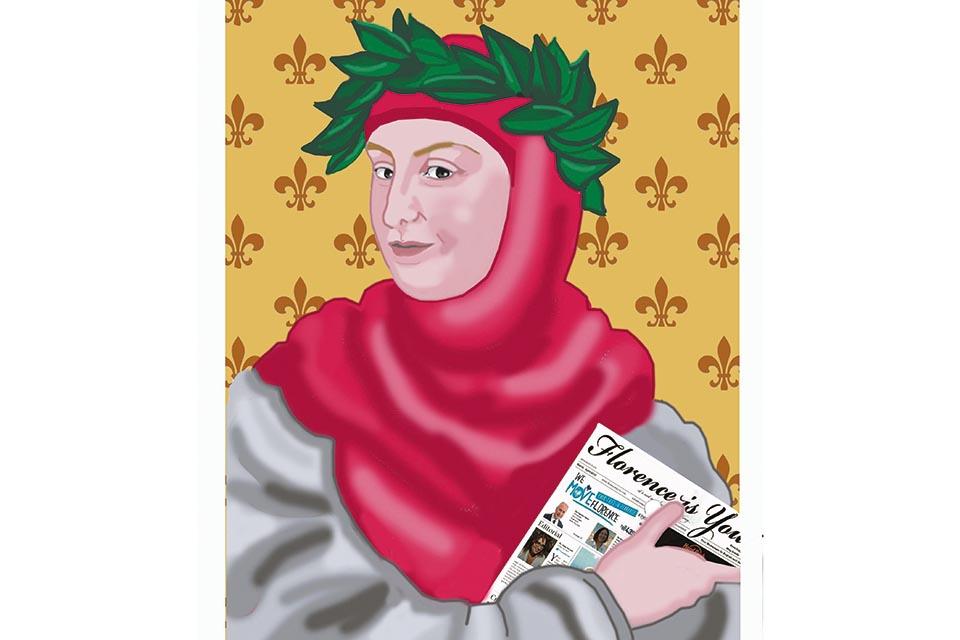L'illustrazione è realizzata da Donatella Isola   Phone: +39 328 466 2700   Email info@donatellaisola.it  www.donatellaisolafirenze.it