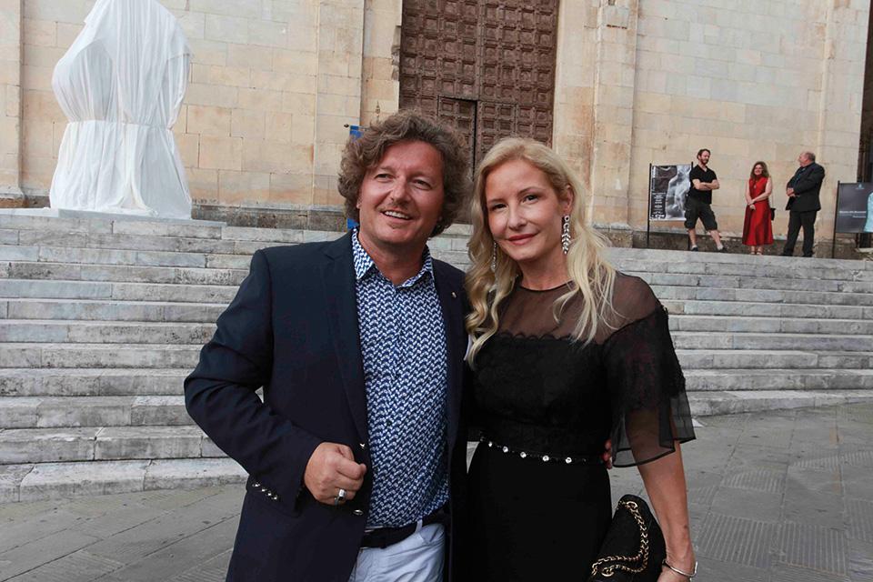 Helidon Xhixha and his wife Mara